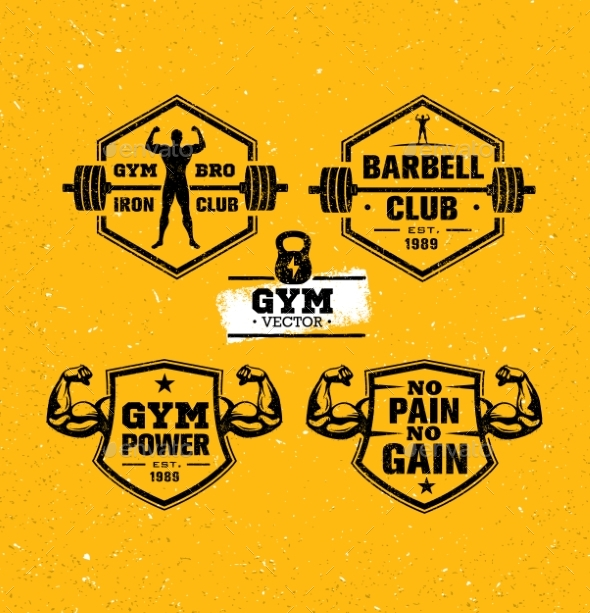 Workout Gym Sport and Fitness Motivation Vector - Sports/Activity Conceptual