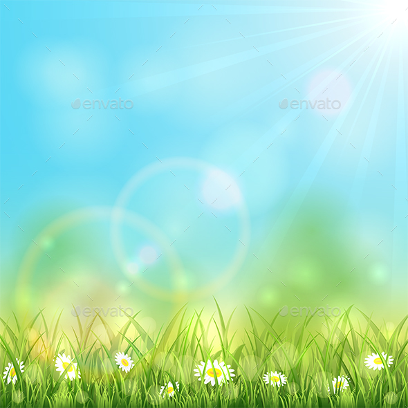 Nature Background with Flowers - Landscapes Nature