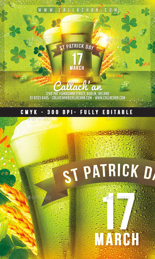 St Patrick Day Flyer - Events Flyers