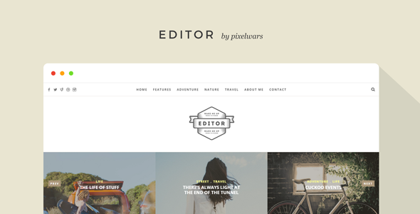 Editor – Blog and Portfolio Template
