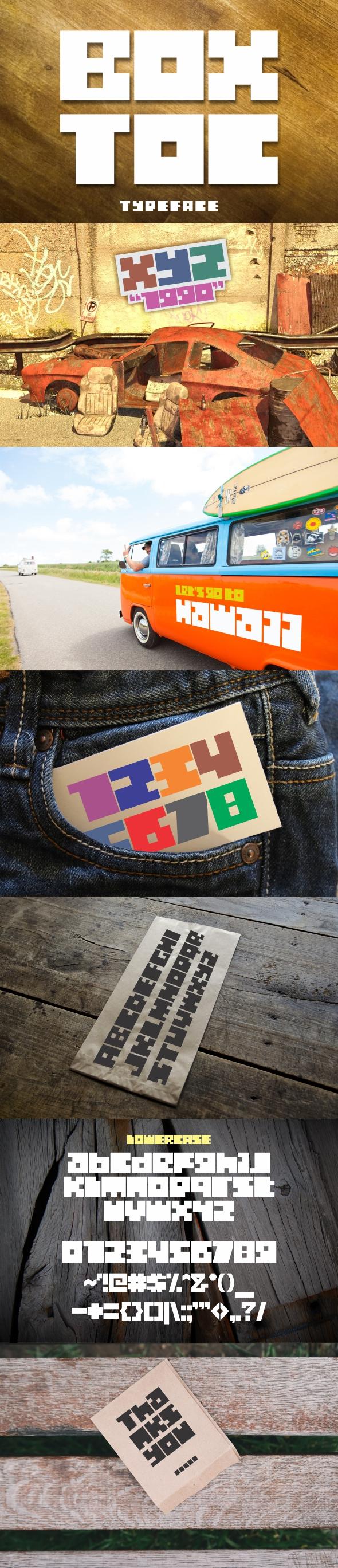BOXTOC Typeface - Decorative Fonts