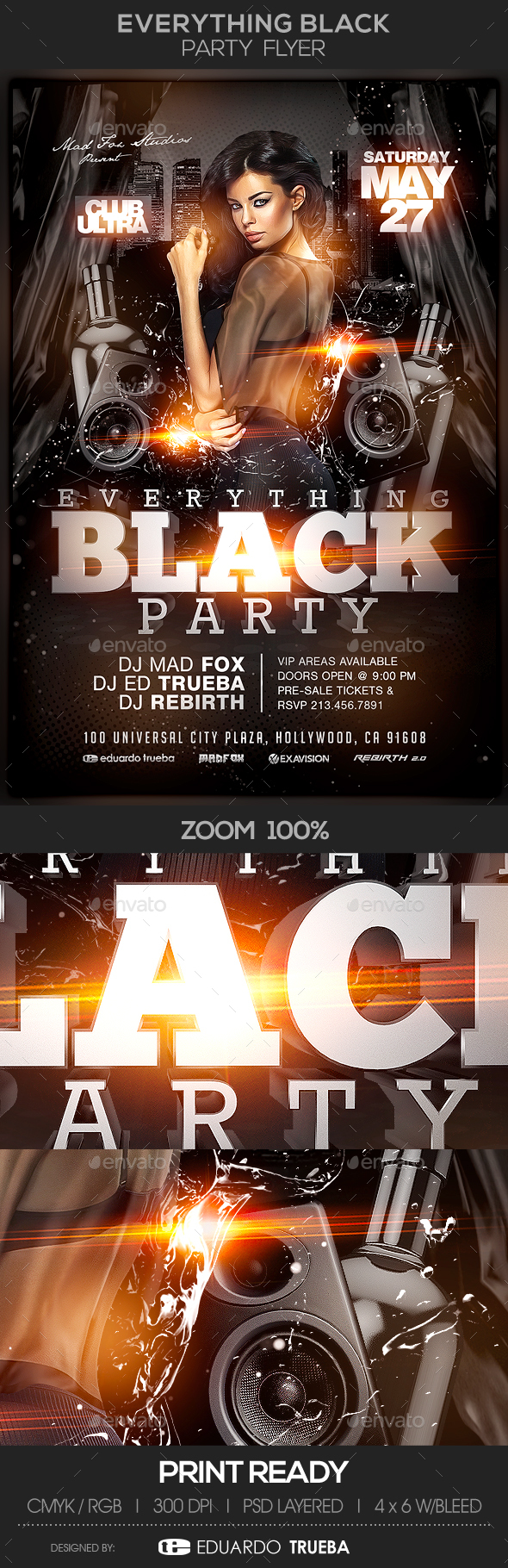 Everything Black Party Flyer - Events Flyers