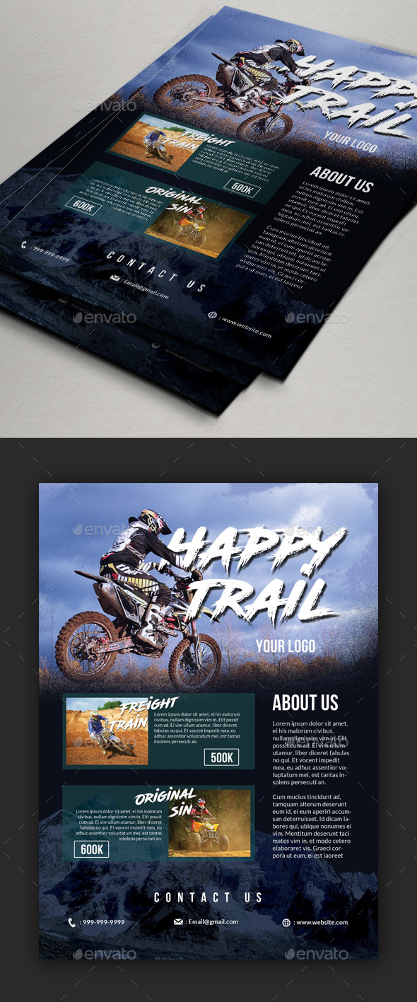 Trail Adventure Event Flyer / Poster - Sports Events