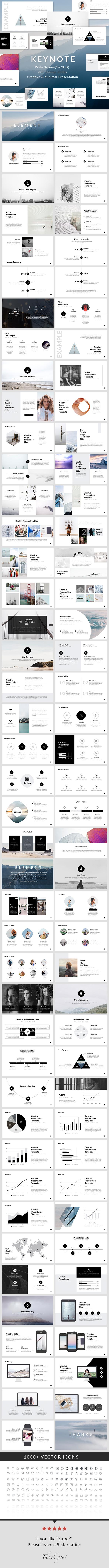 Element - Keynote Presentation Template - Creative Keynote Templates