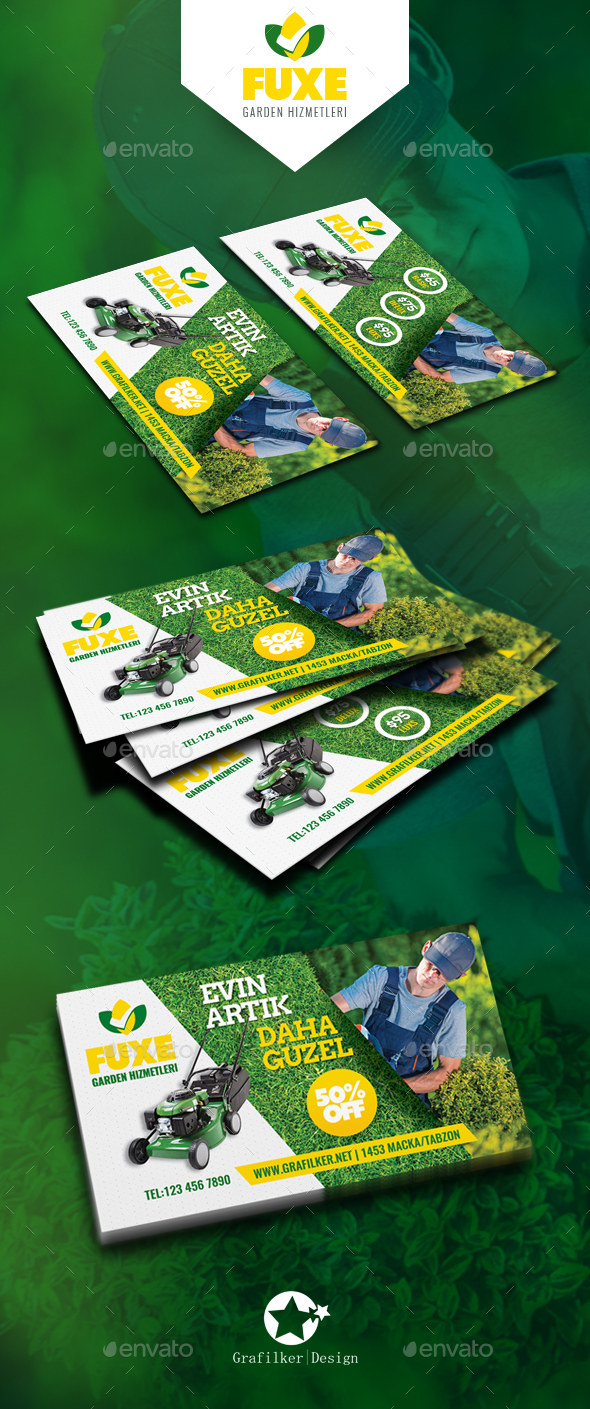 Garden Landscape Business Card Templates - Corporate Business Cards
