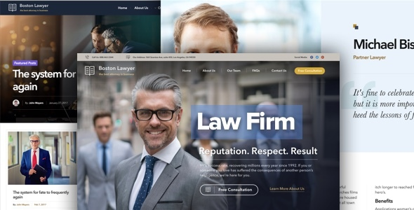 Top 30+ Best Lawyer WordPress Themes 2019 5