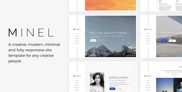 Minel – Responsive Minimal Site Template