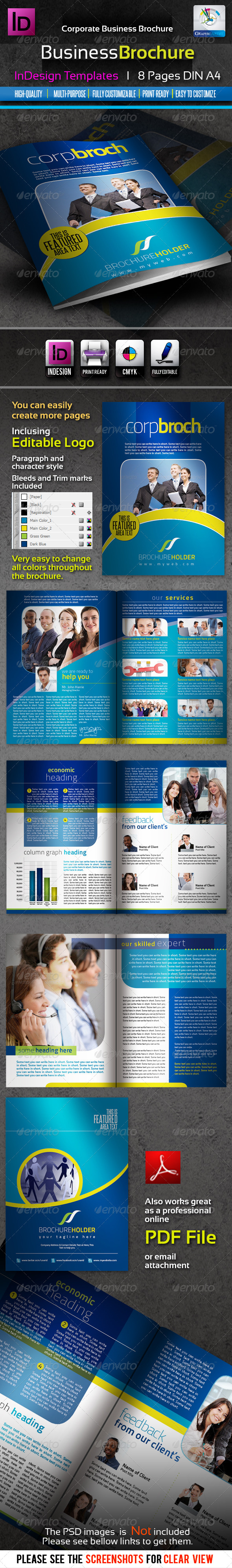 Corporate Business InDesign Brochure 8pages - Corporate Brochures