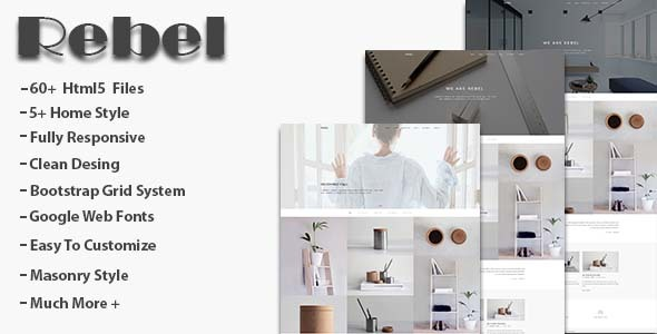 Rebel – Minimal Portfolio Template