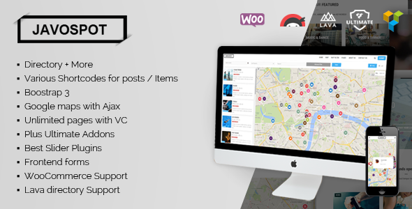 Javo Spot - Multi Purpose Directory WordPress Theme - Directory & Listings Corporate