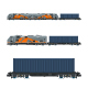 Locomotive with Cargo Container on Railroad Platform - GraphicRiver Item for Sale