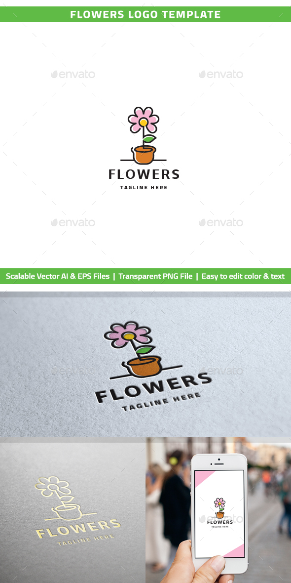 Flowers Logo - Nature Logo Templates