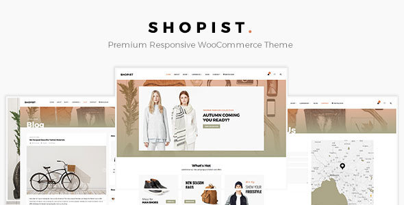 Shopist – Responsive Stylish eCommerce WordPress Theme