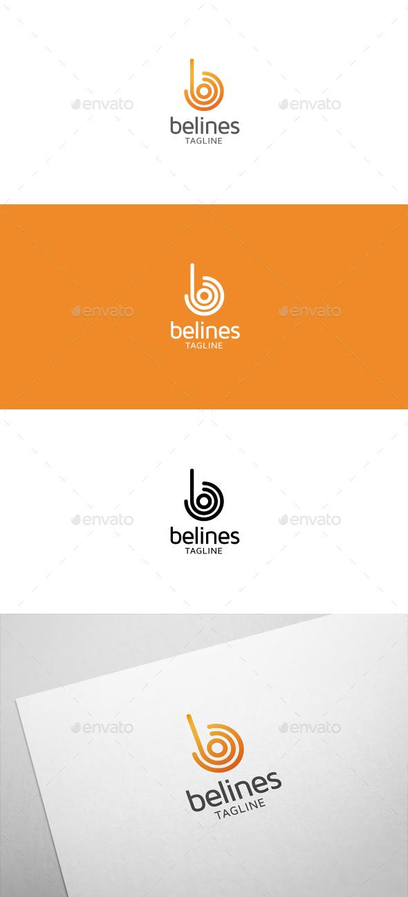 Belines B Letter Logo - Letters Logo Templates