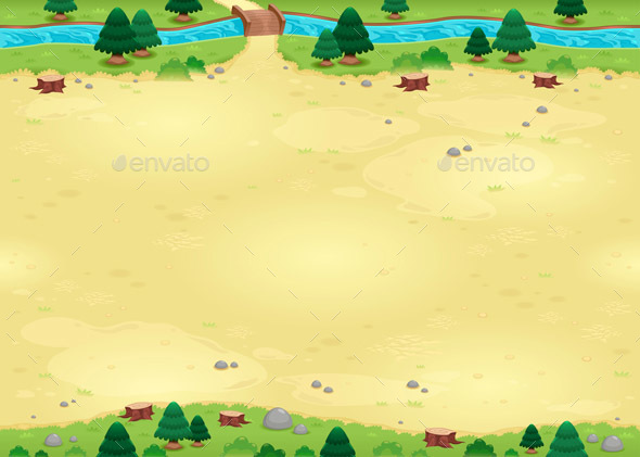 Nature Background for Games with Endless Sides - Backgrounds Game Assets