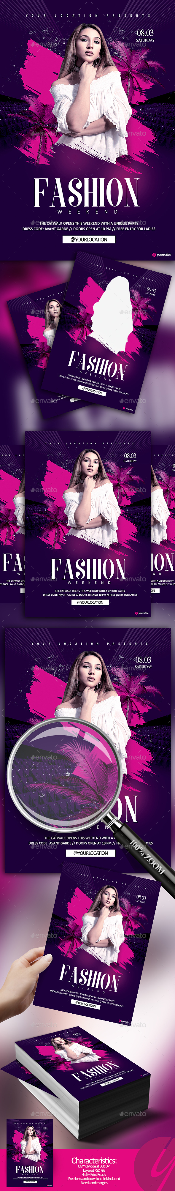 Fashion Weekend - Events Flyers