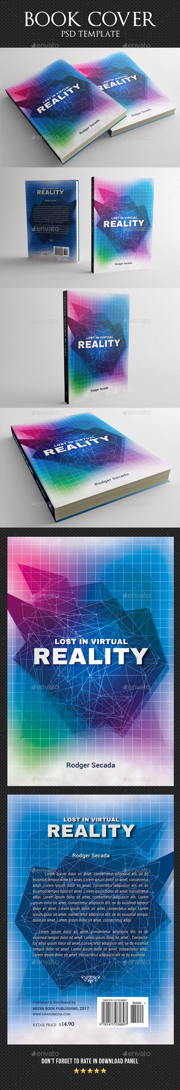Book Cover Template 32 - Miscellaneous Print Templates
