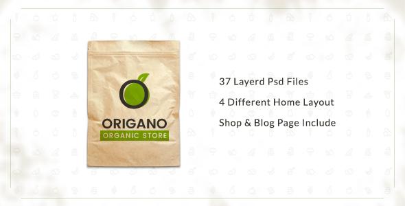 Origano –  Organic Store PSD Template