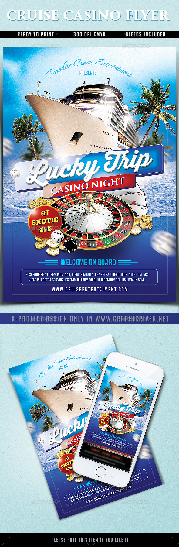 Cruise Casino Flyer - Events Flyers