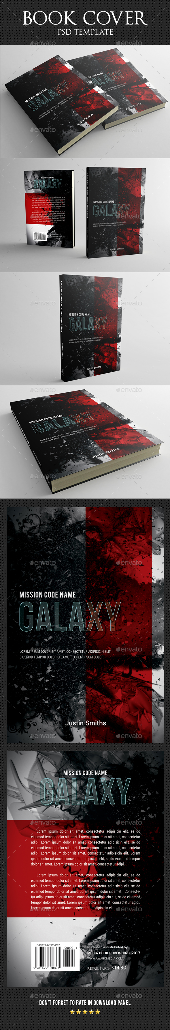 Book Cover Template 33 - Miscellaneous Print Templates