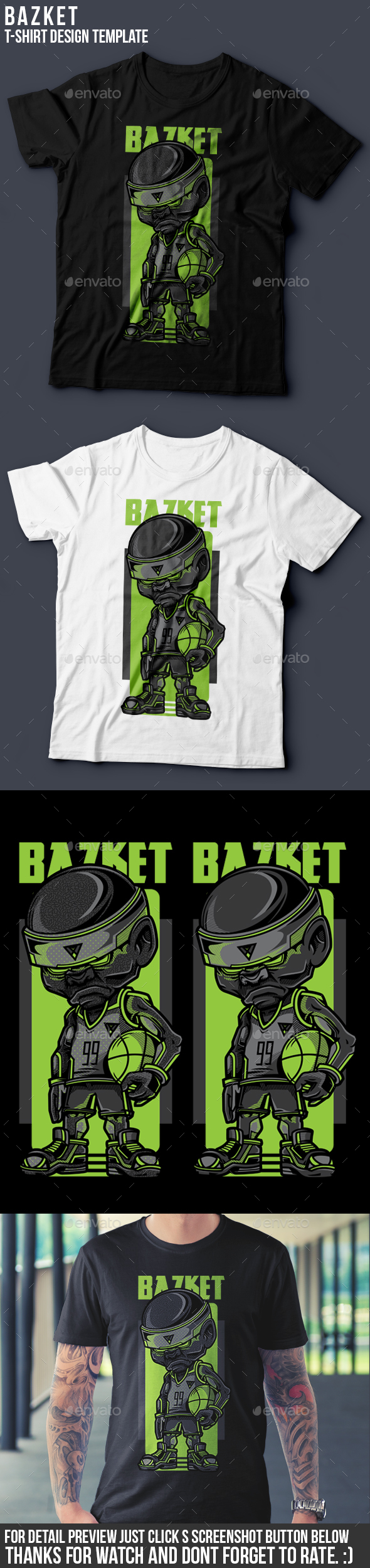 Bazket T-Shirt Design - Sports & Teams T-Shirts
