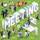 Isometric People Meeting 3D Icon Set Vector Illustration - GraphicRiver Item for Sale