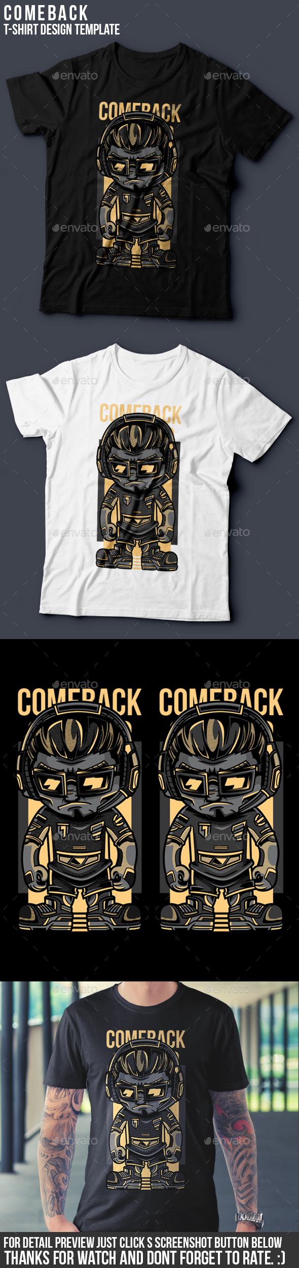 Comeback T-Shirt Design - Sports & Teams T-Shirts
