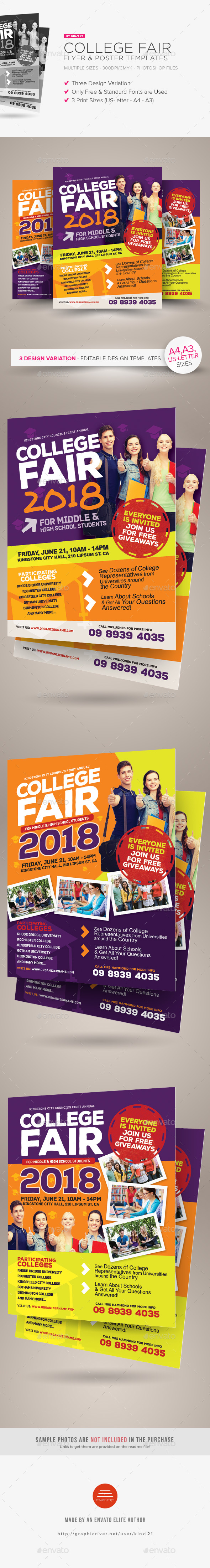 College Fair Flyer Templates by kinzi21 | GraphicRiver