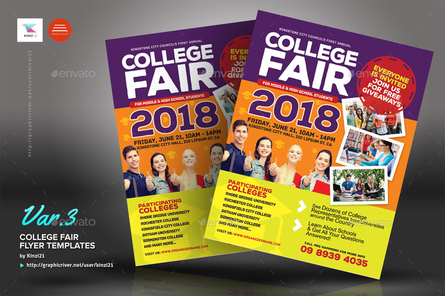 college fair flyer templates by kinzi21 graphicriver