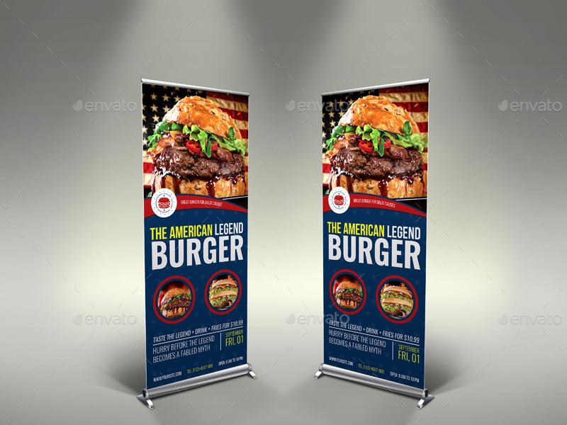 Burger Restaurant Advertising Bundle Vol 4 By Owpictures
