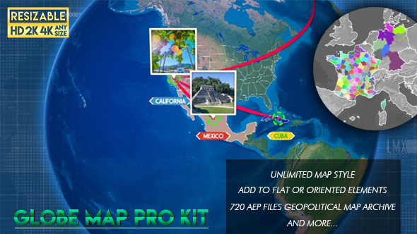Globe map pro kit by limxona videohive play preview video gumiabroncs Gallery