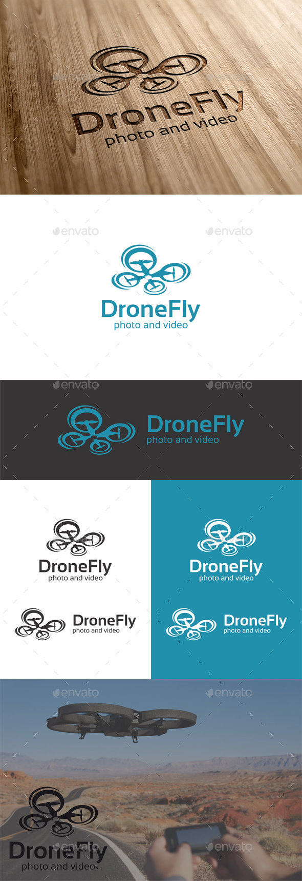 Drone Flight - Objects Logo Templates