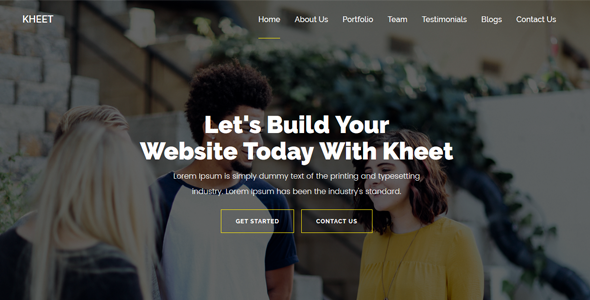 Kheet – One Page MultiPurpose Template