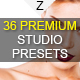 36 Premium Studio Presets - GraphicRiver Item for Sale