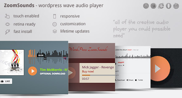 ZoomSounds - WordPress Cornerstone Waveform Audio Player - CodeCanyon Item for Sale