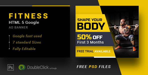 Fitness-Animated HTML 5 Banner 01 - CodeCanyon Item for Sale