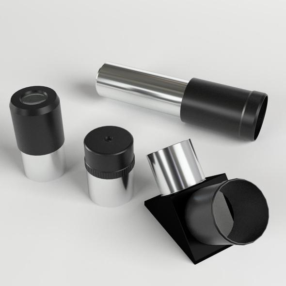 Telescope Optics Parts - 3DOcean Item for Sale