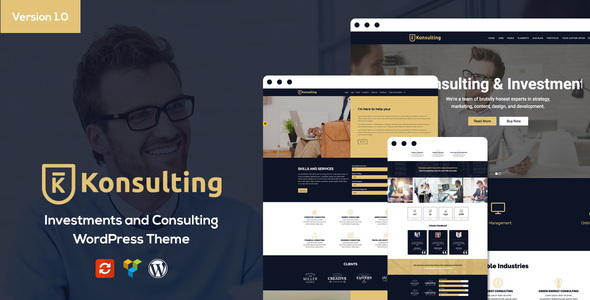 Konsulting - Investments and Consulting WordPress Theme