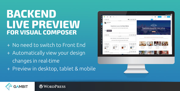 Backend Live Preview for Visual Composer - CodeCanyon Item for Sale