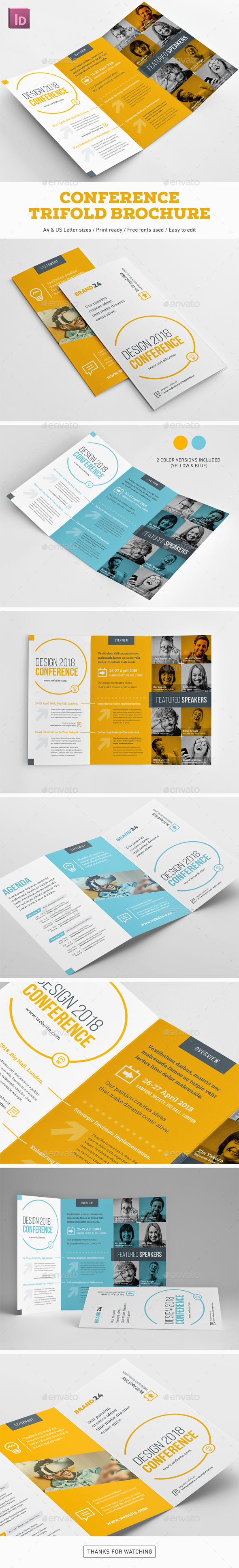 Conference Trifold Brochure - Corporate Brochures