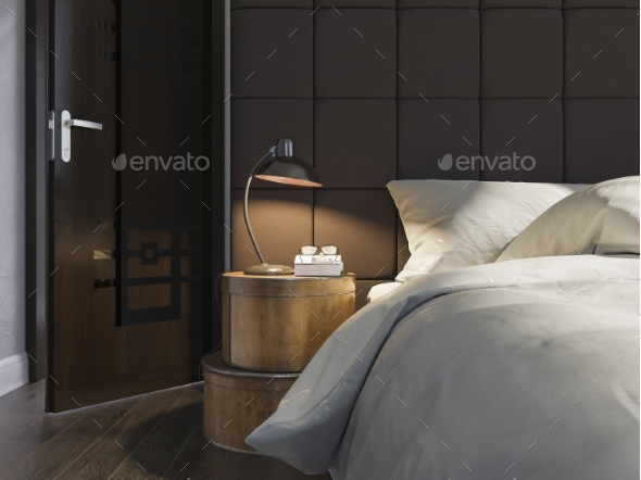 3d Illustration of Bedroom Interior Design - Architecture 3D Renders
