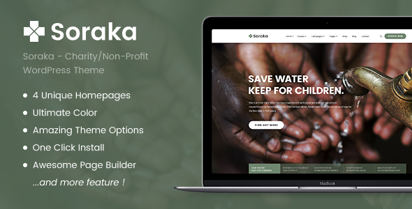 Soraka - Charity/Non-profit Organization WordPress Theme - Charity Nonprofit