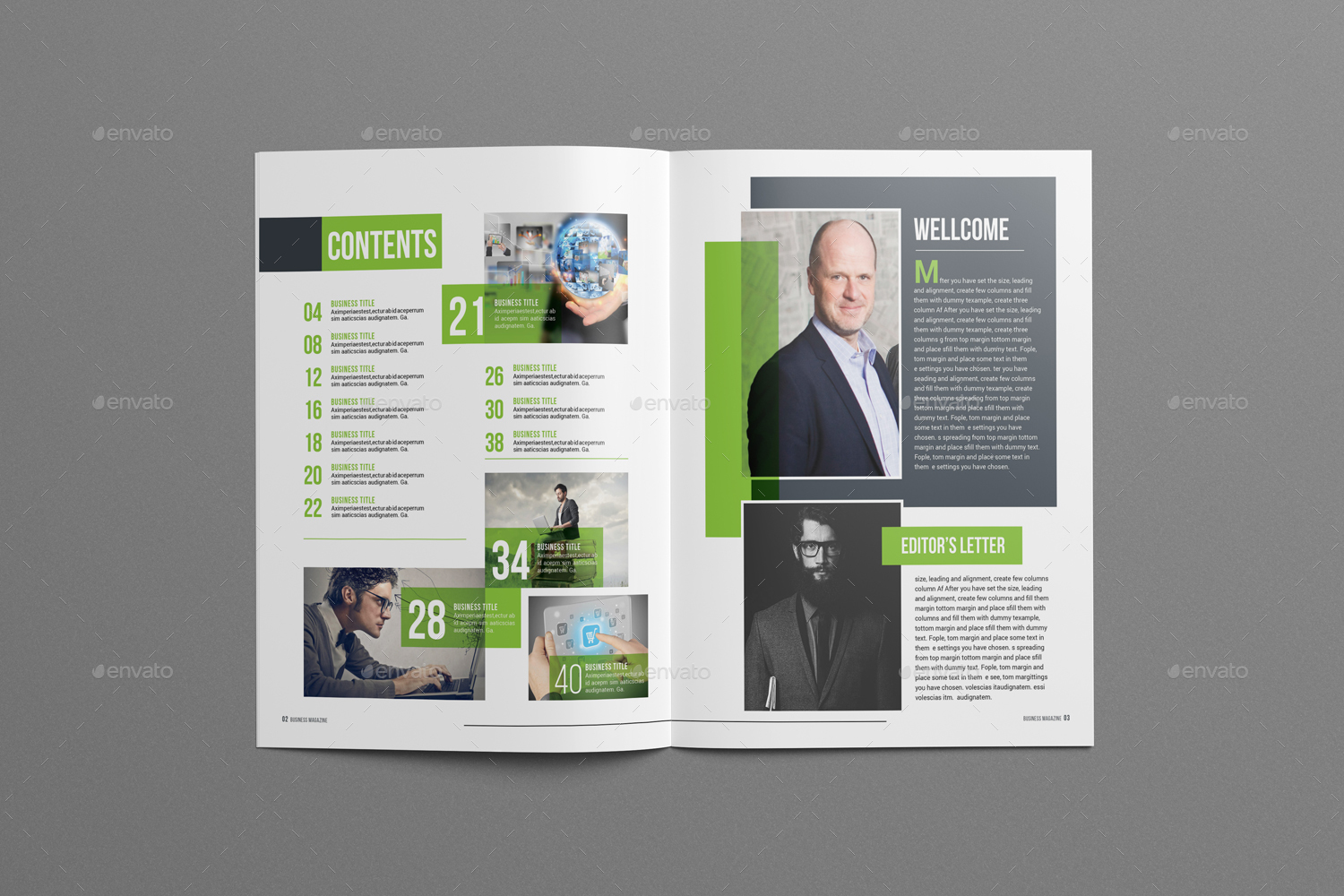 Business magazine template by designsoul14 graphicriver business magazine template friedricerecipe Images