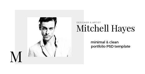 Mitchell Hayes – Portfolio PSD Template - Portfolio Creative