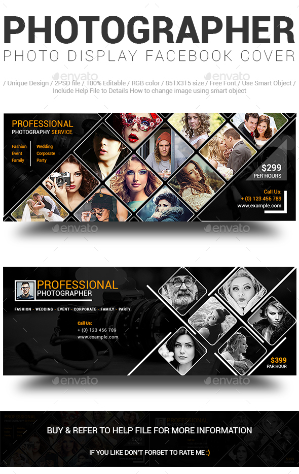 Photographer Photo Display Facebook Cover - Facebook Timeline Covers Social Media