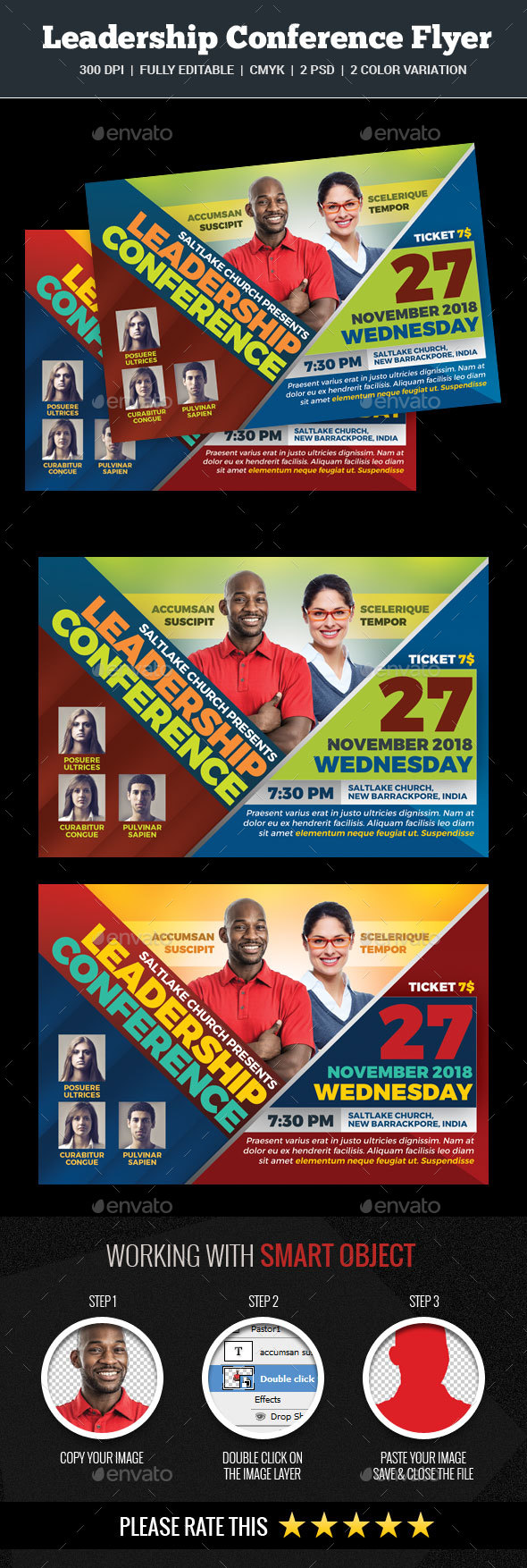 Leadership Conference Flyer - Church Flyers