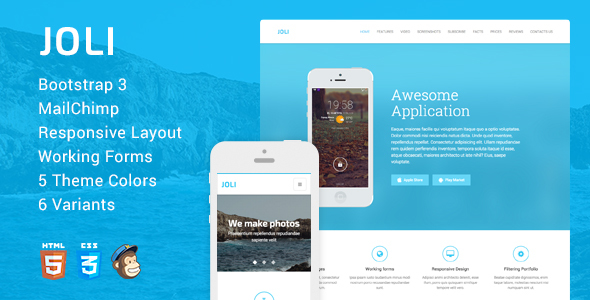 JOLI - Responsive Multi-Purpose Landing Page Template - Landing Pages Marketing