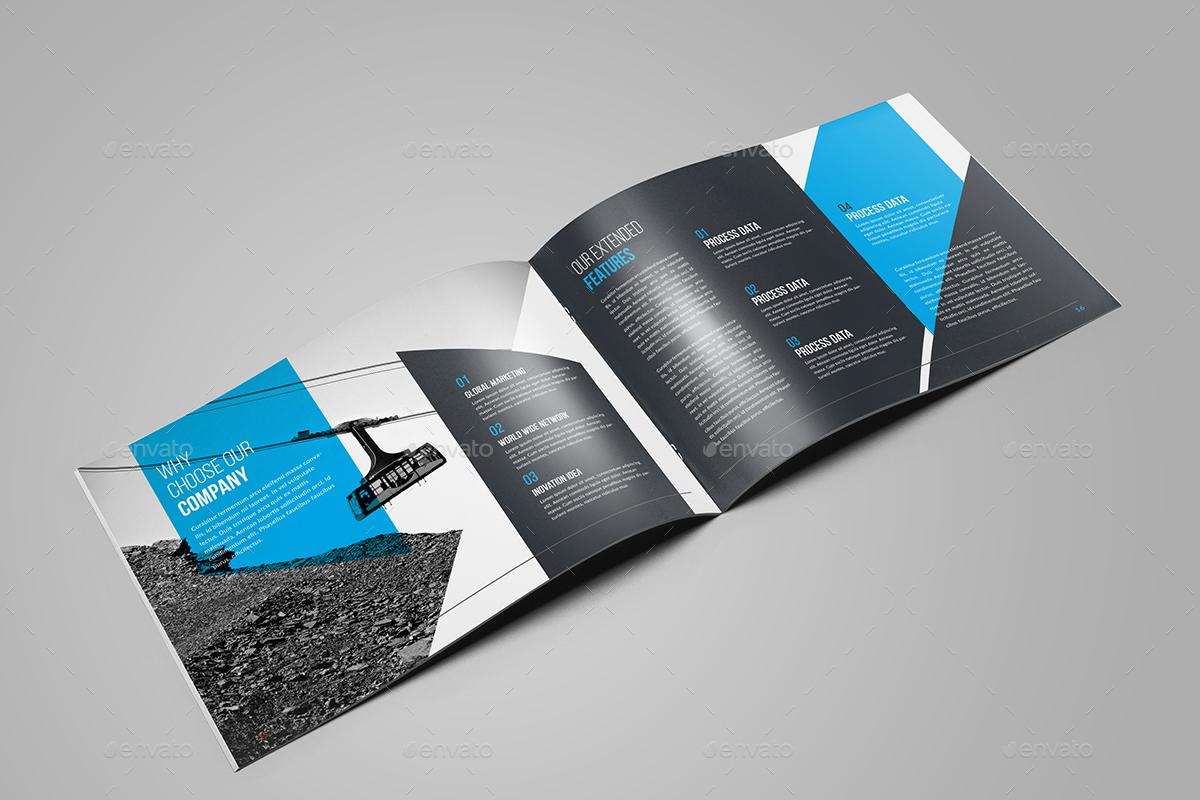 Landscape Bi-Fold Brochure Template by generousart | GraphicRiver