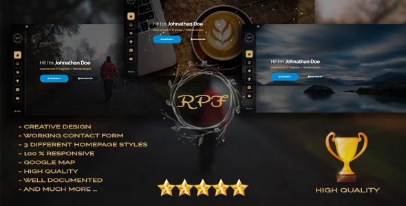 RPF - Creative Responsive Personal Resume / Portfolio - Personal Site Templates