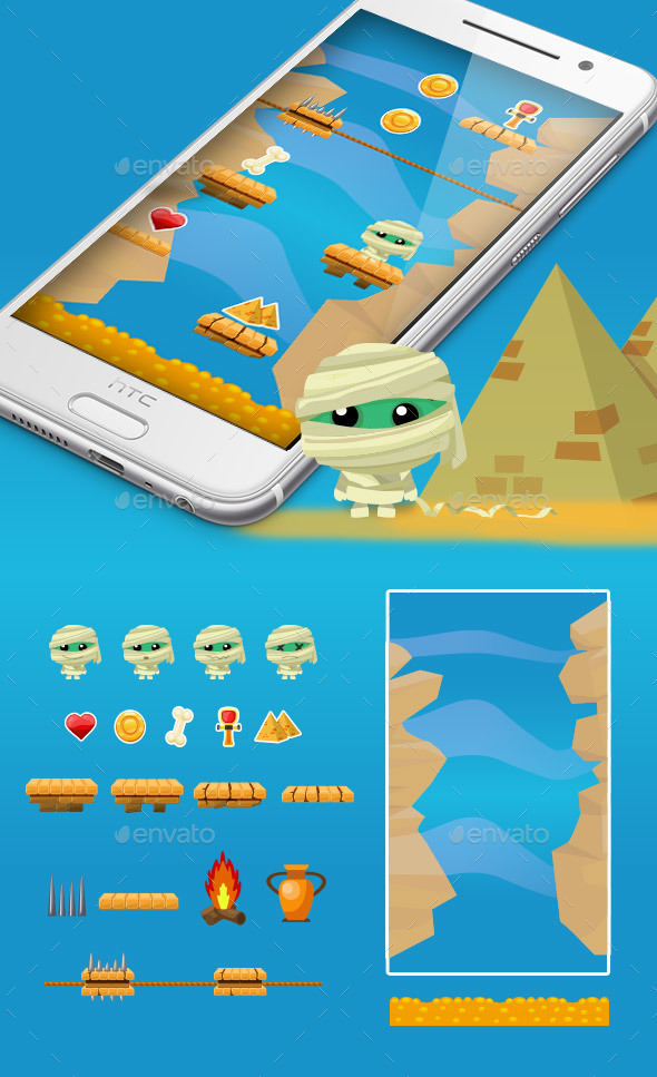 Mummy Jump Game Kit - Game Kits Game Assets